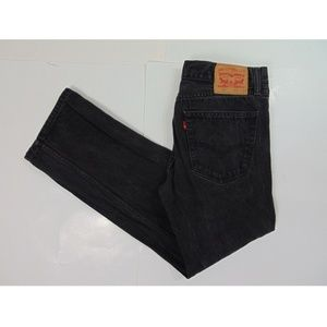 Levis 505 Men Straight Leg Black Jeans Pants